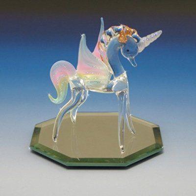 Mini Horse Rainbow Blown Glass Blowing Art Figurines Animals Decor Souvenir 3