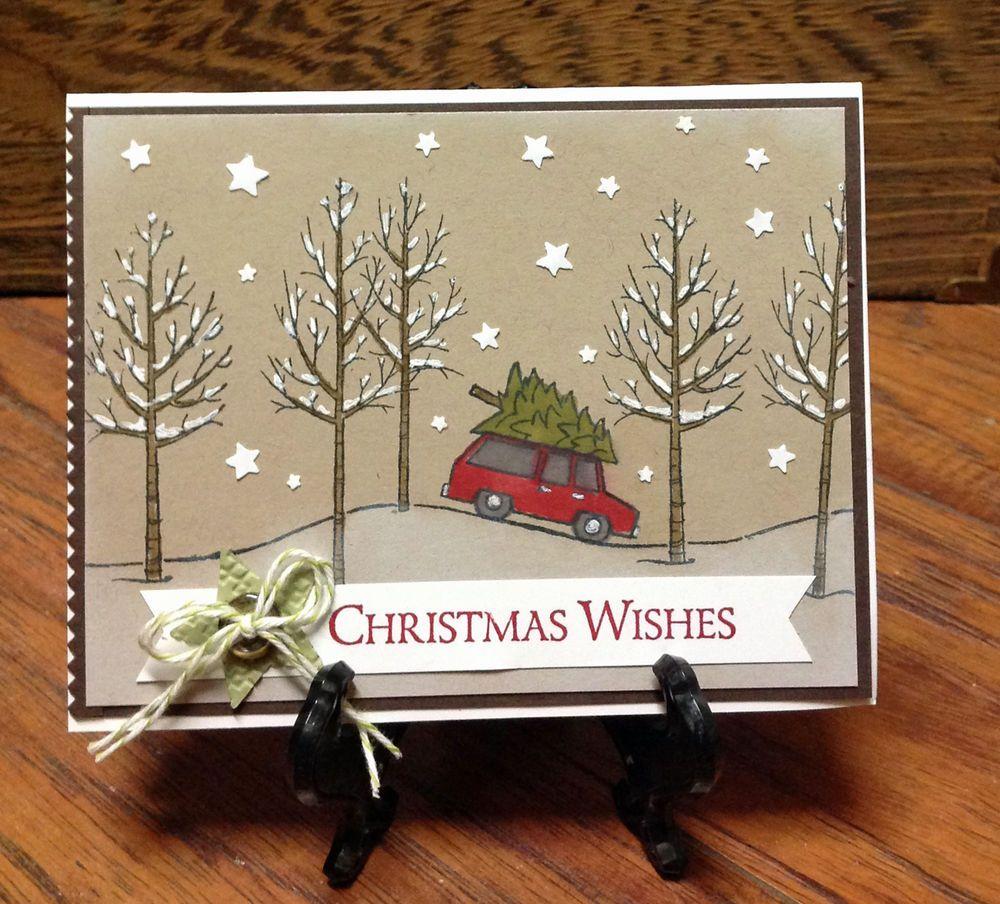 Christmas tree hunt snow card handmade stampin up handmade christmas tree hunt snow card handmade stampin up handmade christmas kristyandbryce Gallery