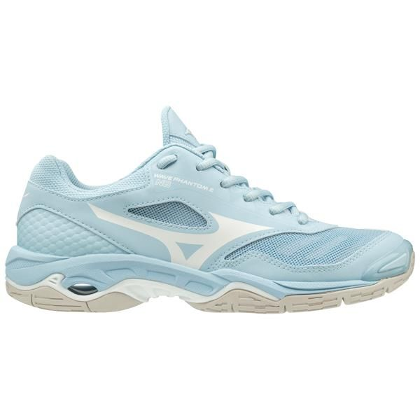 Mizuno Wave Phantom 2 Womens Netball Shoes Cool Blue White Nike Volleyball Shoes Badminton Shoes Volleyball Shoes