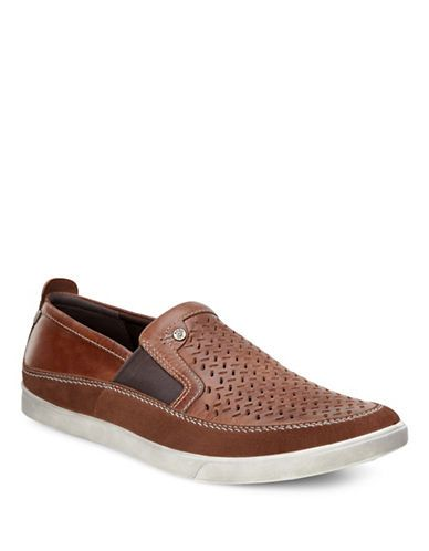 76d97749 Ecco Collin Perforated Slip-Ons Men's Cognac 8 | Products | Best ...