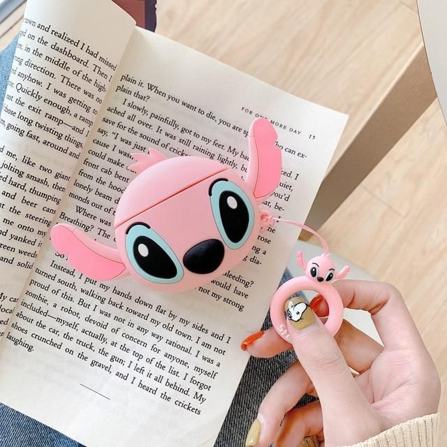 3D Earphone Case For Airpods Pro Case Silicone Stitch Cat
