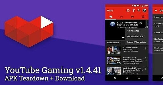 YouTube Gaming v1.4.41 Adds Event Notifications, Not Interested Action  #mobilegaming http://ow.ly/tUIM3017qYQ