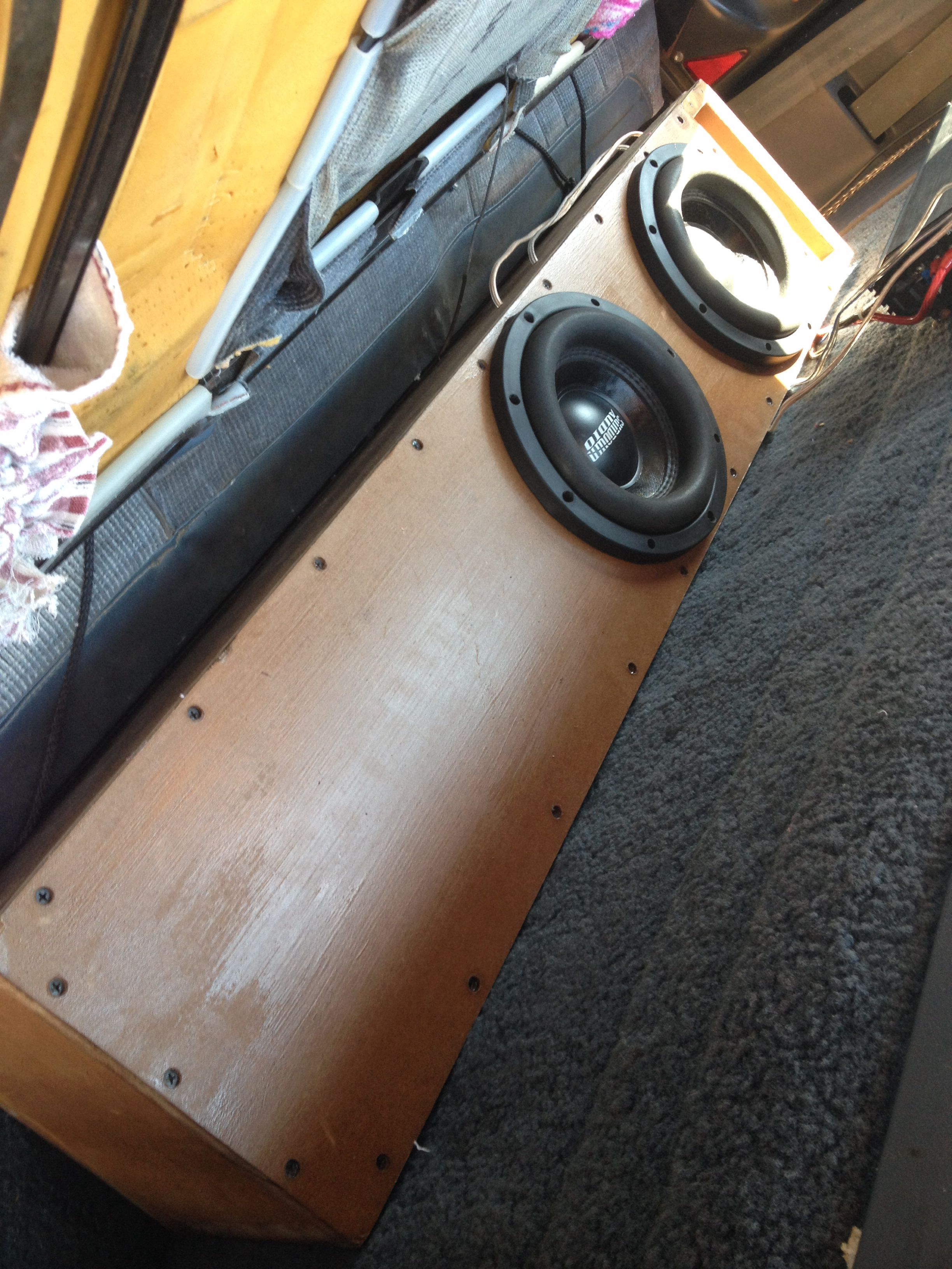 My Two Sundown Audio E8v3s In Mdf Ported Box Tuned Around 32 Hz System Diagram Page 10 Car Diymobileaudiocom Stereo Run Off A Rockford Fosgate Prime R5001 Amp At 2 Ohms All Of This 1991 F150