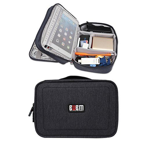 BUBM Waterproof Double Layers Travel Gadget Organizer Bag