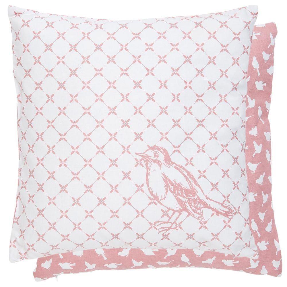 kissenh lle wendekissen vogel blumen rosa wei clayre eef 40x40 artikel fy20 wohnen. Black Bedroom Furniture Sets. Home Design Ideas