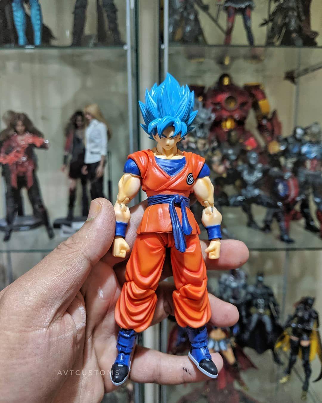 Custom Capsule Corp Ssgss Goku From Sdbh Anime Goku Super Saiyan Blue Goku Anime Dragon Ball