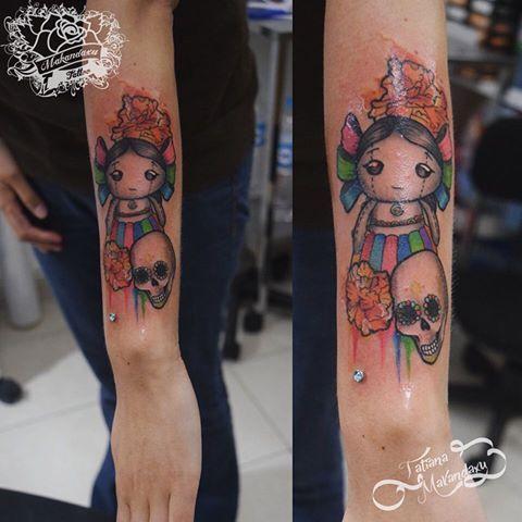 Image Result For Tatuajes De Muñecas De Trapo Mexicanas Tatuajes