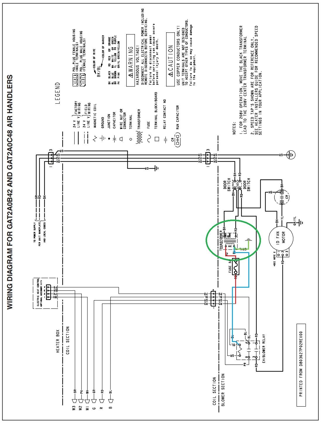 Trane Air Handler Wiring Diagram Hvac With