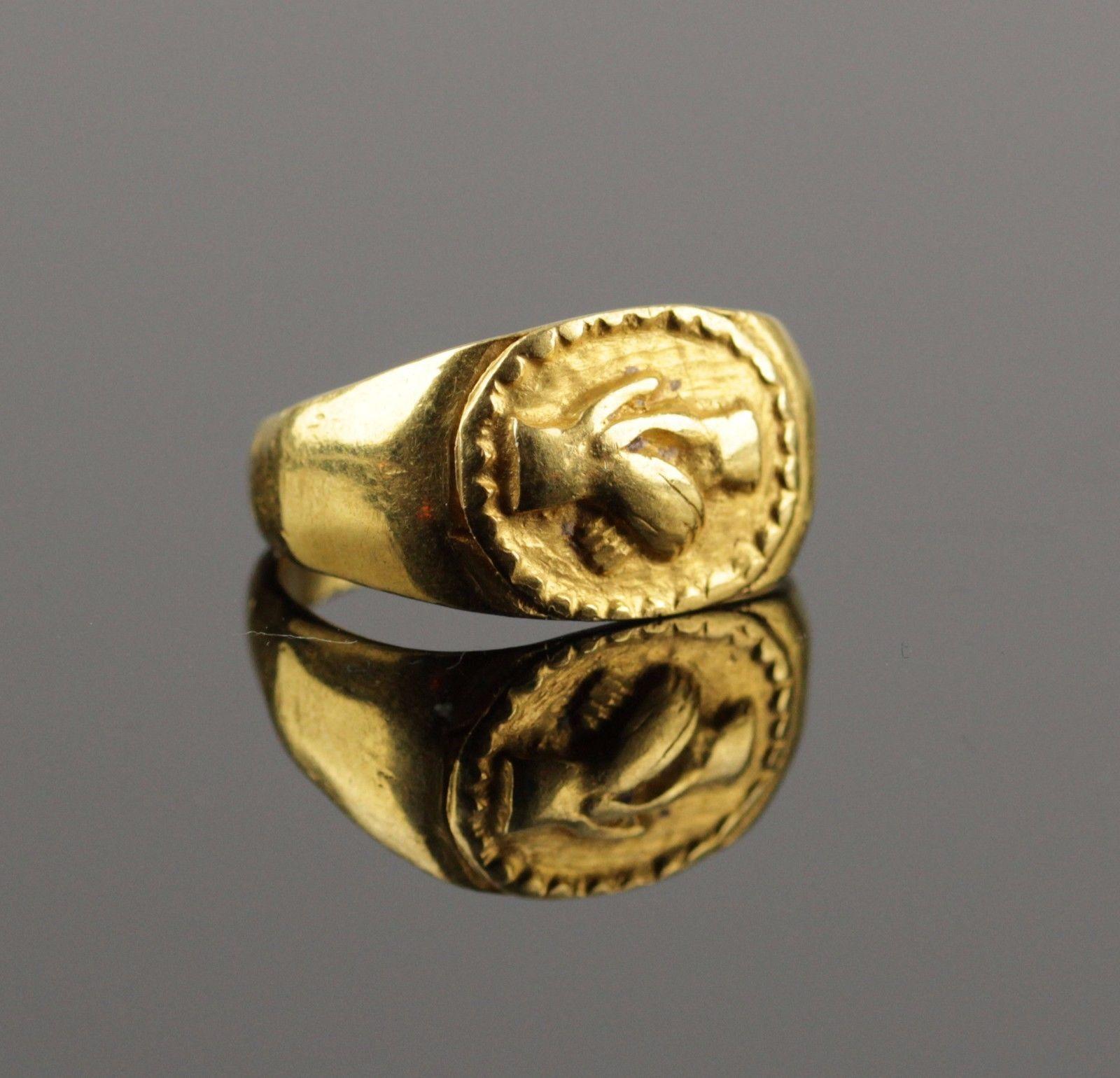 STUNNING ANCIENT ROMAN GOLD WEDDING RING CIRCA 2ND C AD