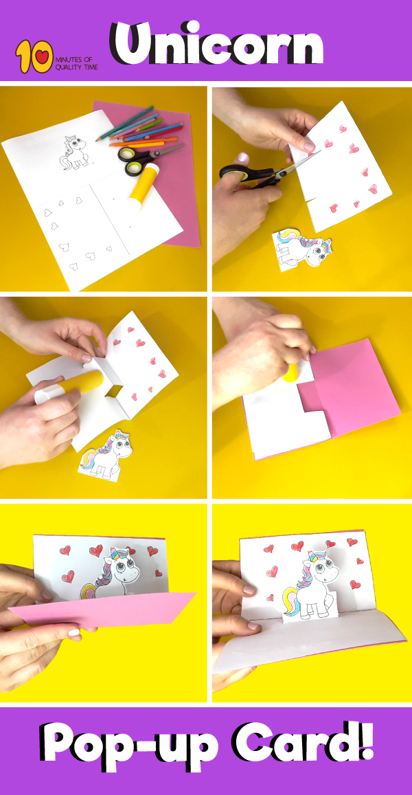Card Shape Of The Month Pop Up Unicorn Christmas Card Tutorial With Free Template Christmas Cards Free Pop Up Card Templates Christmas Card Tutorials