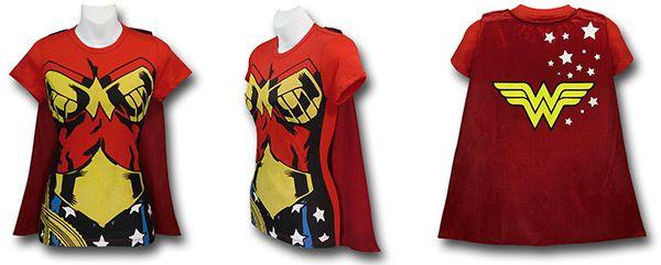 Supergirl, Wonder Woman, Batgirl, And Robin Caped Costume Shirts Supergirl, Wonder Woman, Batgirl, and Robin Caped Costume Shirts Blouses and Tops wonder woman costume shirt