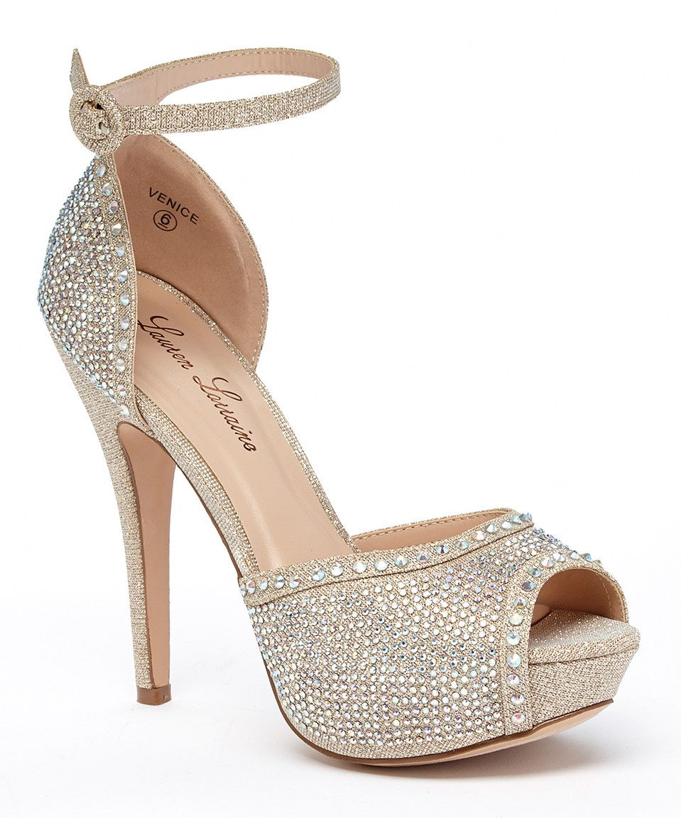 Loving this Lauren Lorraine Nude Venice Peep-Toe Pump on #zulily! #zulilyfinds wish I could wear these!!