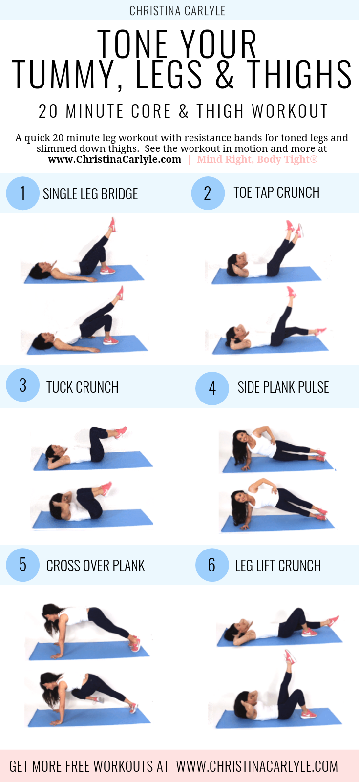 Leg and Ab Workout to Tone Legs and Core in 15 minutes