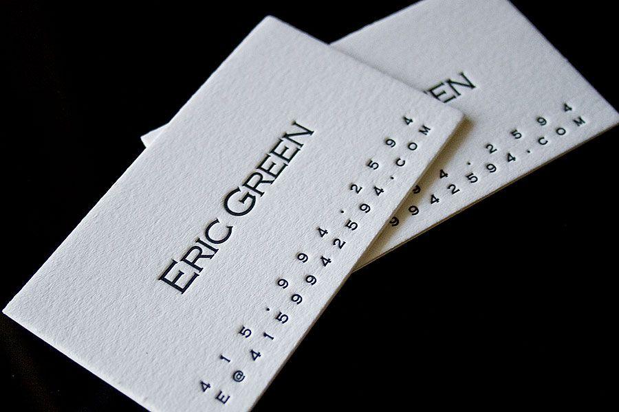 Letterpress business card paper pinterest letterpresses 40 letterpress business cards that spell elegance colourmoves Choice Image