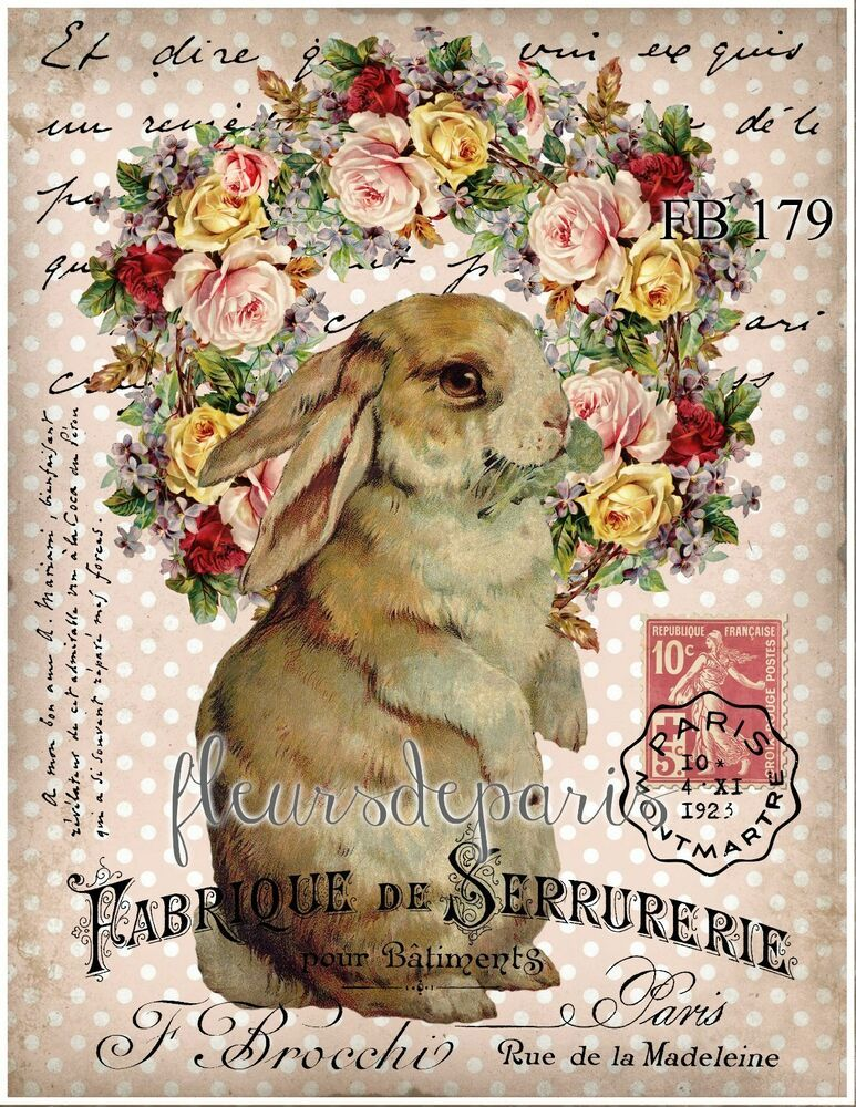 Shabby Chic Easter Bunny Handmade Bunny