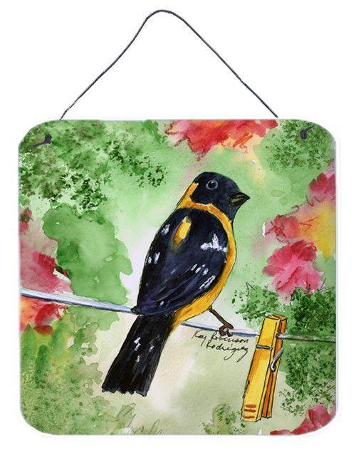 Bird - Black Headed Grosbeak Aluminium Metal Wall or Door Hanging Prints