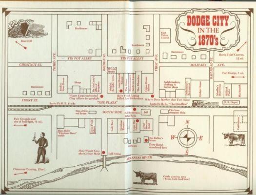 map of dodge city kansas Dodge City Map 1870 S Dodge City Historical Characters Model map of dodge city kansas