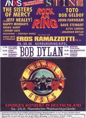 5- 06 17 1991 - Bob Dylan Concert Poster