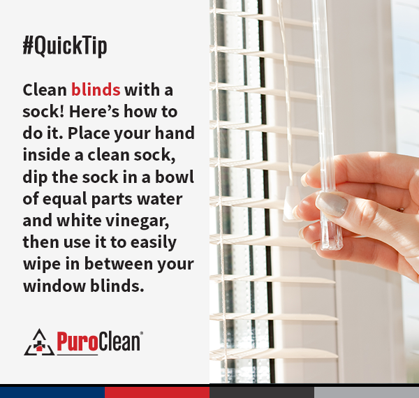 Clean Blinds With A Sock Here S How To