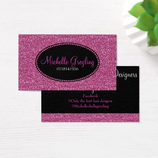 Pink Glitter Pretty Elegant Girly Business Cards Zazzle Com Girly Business Cards Pink Glitter Printing Double Sided