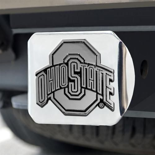 Chrome Metal Ohio State University Buckeyes Htich Cover
