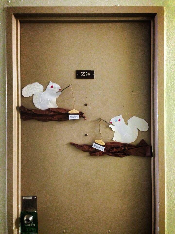 Albino Squirrel Door Decs Classroom Wall Decor
