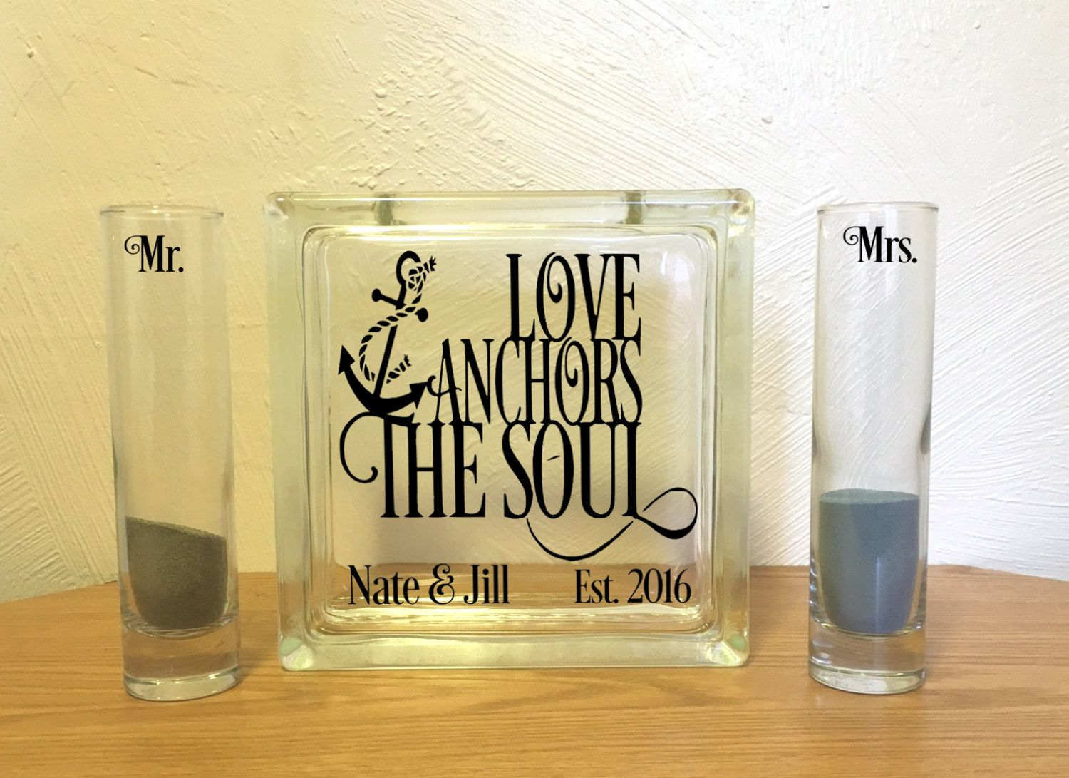 Love anchors the soul nautical unity sand ceremony set anchor love anchors the soul nautical unity sand ceremony set anchor unity set by vinyldzines reviewsmspy