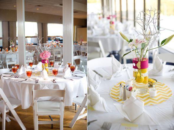 Yellow And White Stripe (Chevron) Round Table Runners : Wedding Chevron  Reception Round Stripe
