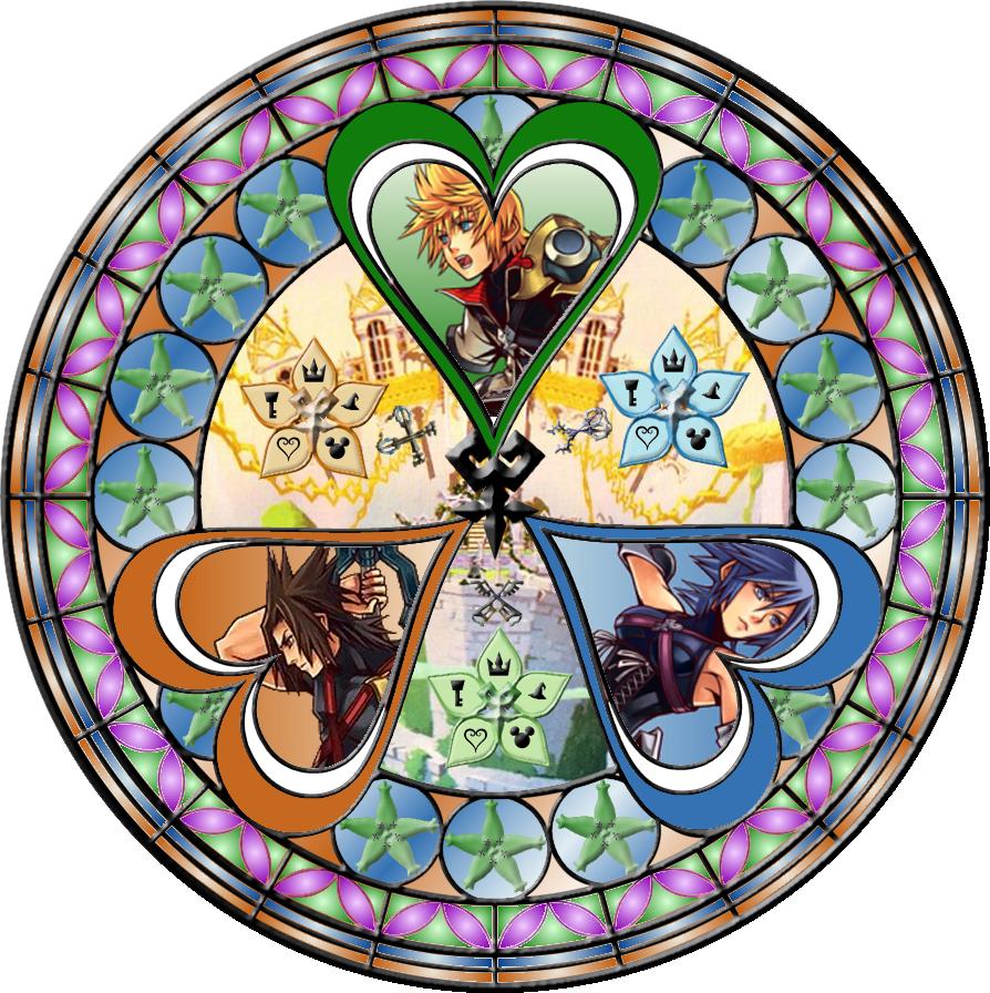 wayfinders stained glass by on deviantart kingdom hearts pinterest. Black Bedroom Furniture Sets. Home Design Ideas