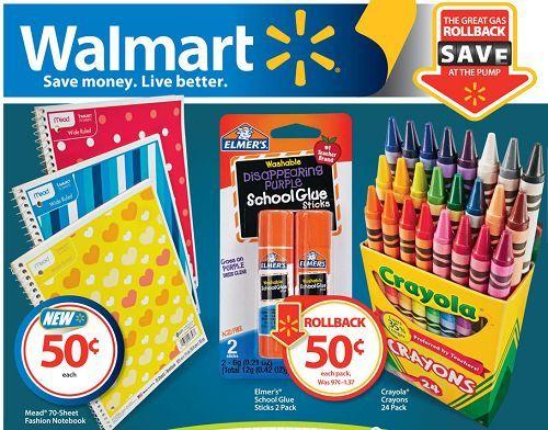 Walmart Back To School Sales Back To School Pinterest School