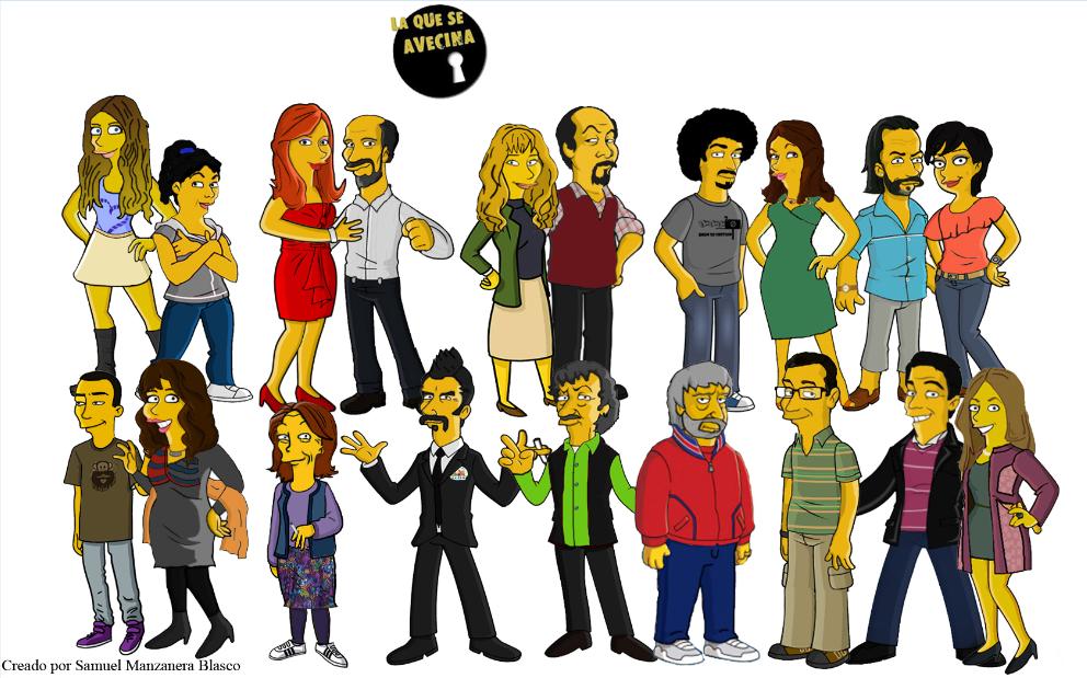 Rebeca Nuevo Personaje De La Serie Simpsonizada La Que Se Avecina