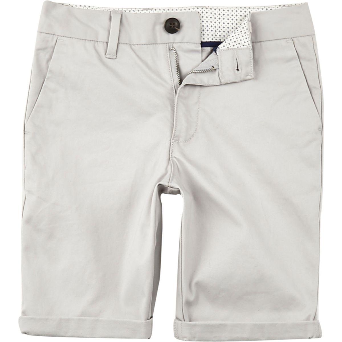 81ef0812f672 Boys grey Dylan slim fit chino shorts
