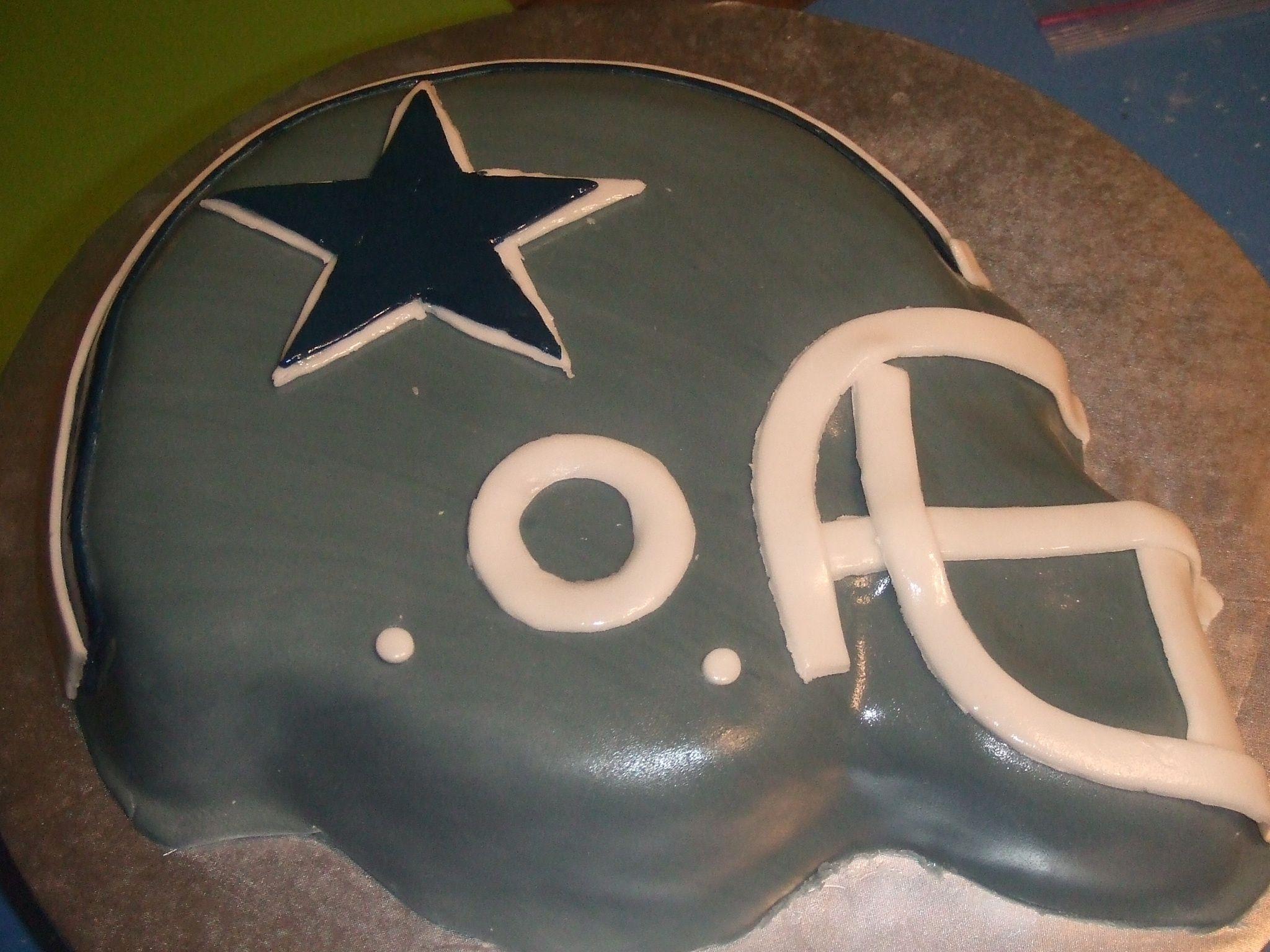 Dallas Cowboy helmet cake Three Little Birds Pinterest Cowboys