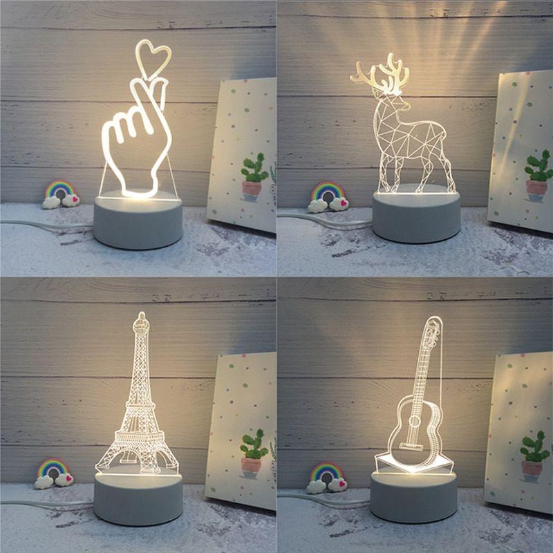 3d Led Lamp Creative 3d Led Night Lights 3d Led Night Light 3d Led Lamp Light Decorations