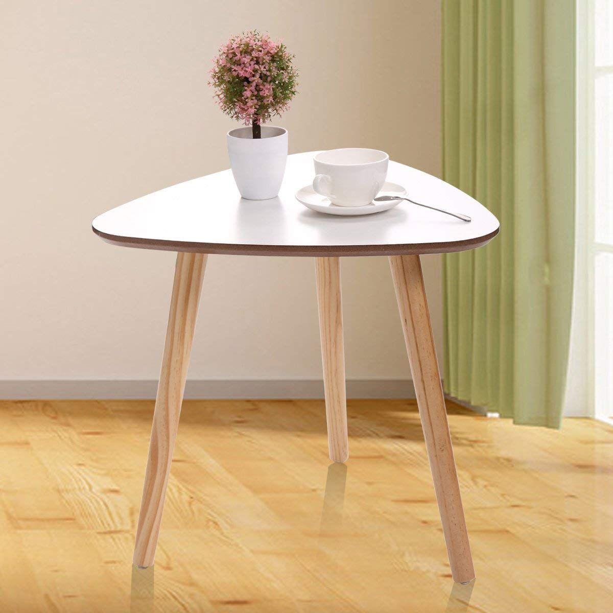 Three Legged Bamboo End Table Triangle Coffee Table End Tables