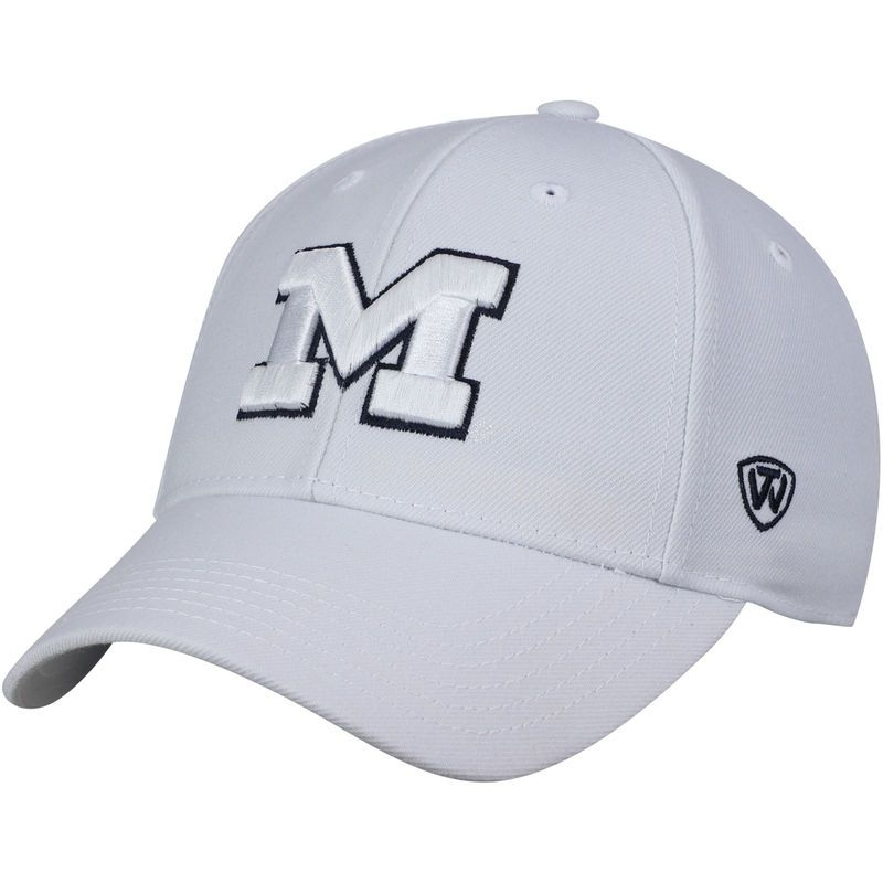 best website 2c9b8 da33b Michigan Wolverines Top of the World Dynasty Fitted Hat – White