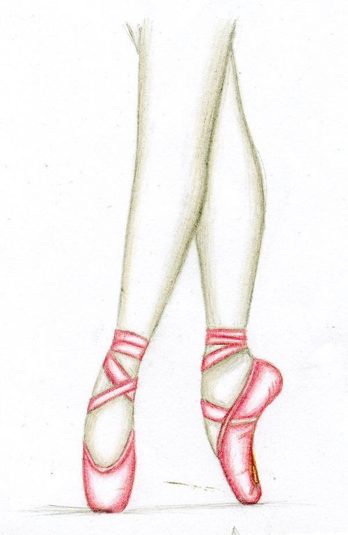 how to draw a ballerina shoe - Google Search … | Pinteres…