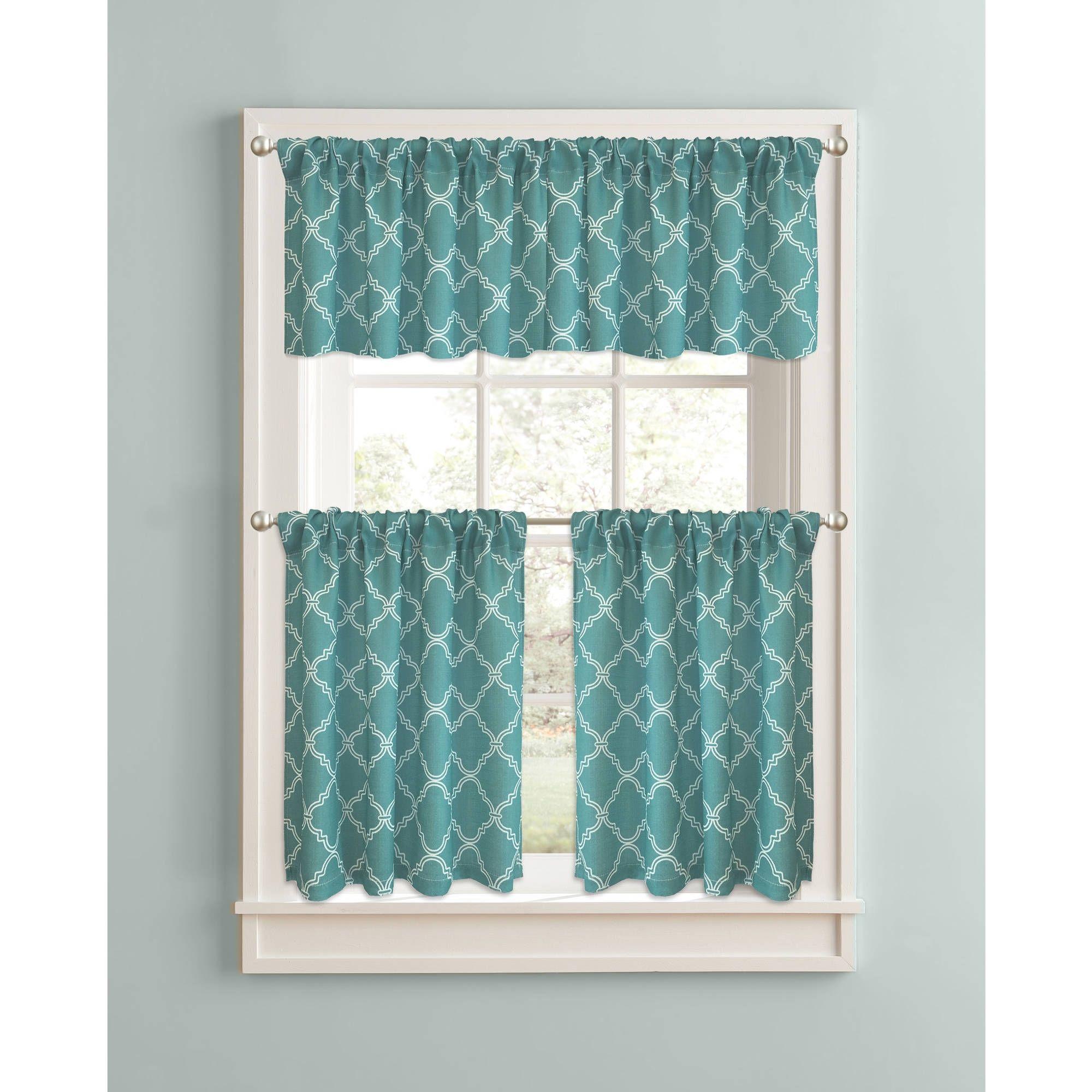 Teal Blue Kitchen Curtains | http://latulu.info/feed/ | Pinterest ...