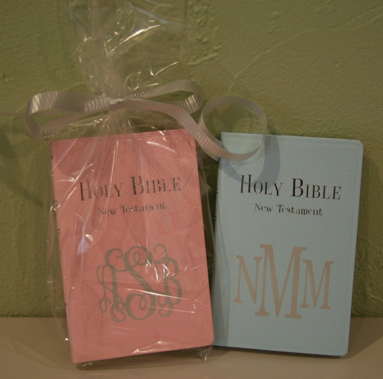 A Meaningful Baptism Gift Idea: Monogrammed Keepsake Bible For Baby, $21.50 :: Possibly