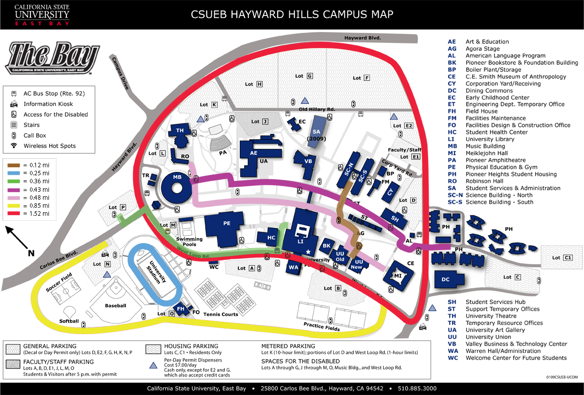 cal state east bay campus map Hooray Fall Quarter Begins Wednesday Sept 26th At Csueb Know cal state east bay campus map