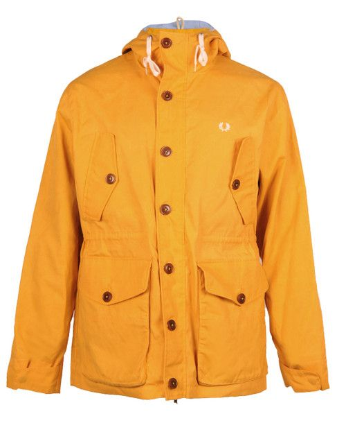 FRED PERRY AUTHENTIC Mens Yellow BRITISH SUMMER PARKA JACKET ...