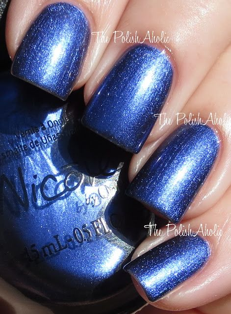Nicole by OPI - What's the Mitch-uation? (Modern Family Spring 2013 Collection) / ThePolishAholic [Shimmery Dark Blue]