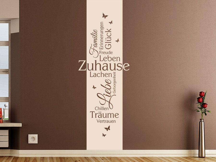 Zuhause Banner Mit Schmetterlingen Zuhause Wandtattoo Und Ideen