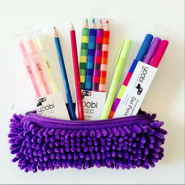 Get Funky With Our Fuzzy Purple Pencil Case Yoobi Youbuyyougive