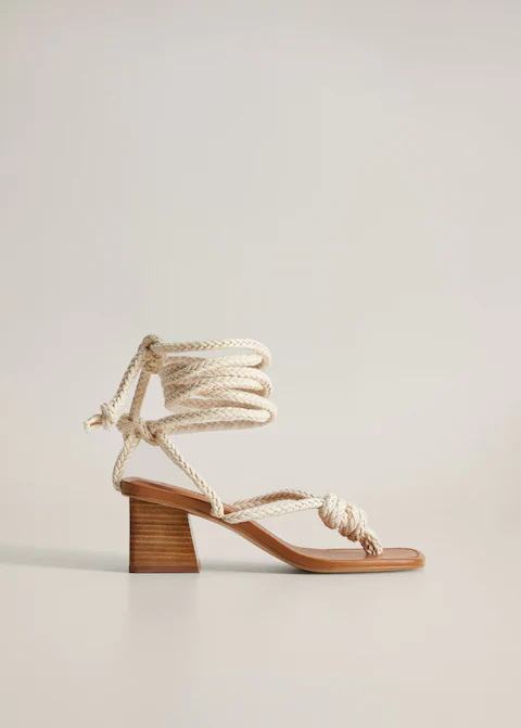 Sandalia Cordas Entrelacadas Mulher Mango Portugal In 2020 Types Of Sandals Womens Sandals Women Shoes