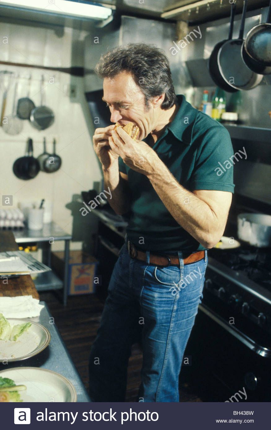 Movie Star Actor Clint Eastwood In Kitchen Of His Former