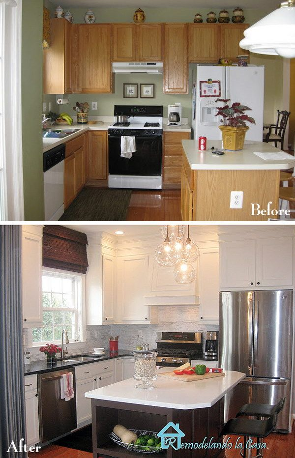 Pretty Before And After Kitchen Makeovers Diy Kitchen Renovation