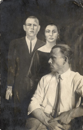 Otto Dix with Self-Portrait with Martha, 1922
