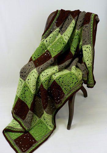 NaturallyCaron.com :: Mount Vernon Throw-free crochet pattern