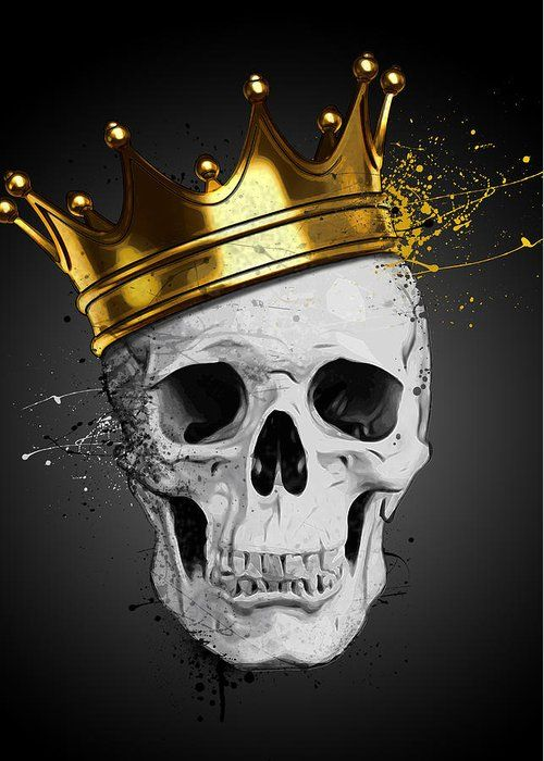 Royal Skull Greeting Card for Sale by Nicklas Gustafsson